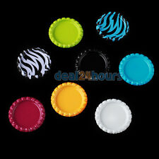 100 x Flat Beer Bottle Cap Craft Scrapbooking Embellishment Colourful DIY Circle