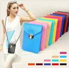 Mini Cross-body Messenger Purse Shoulder Bag Mobile Phone Bag 2 Compartments