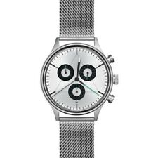 Cronometrics The Engineer Brushed Steel Watch | Stainless Steel Milanese