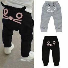 Infant Kids Boys Girls Harem Pants Cat Toddler Sweatpant Trousers Outfit Clothes