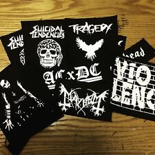Punk and Metal Patches ( Battle Jacket ) Hardcore, Punk, Straight Edge, Crust