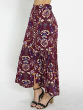 New Mooloola Enchanted Maxi Skirt in Burgundy | WomensWomens Skirts