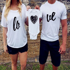 Family Fitted Baby Romper Parent Heart Love Short Sleeve Casual Summer T-shirt