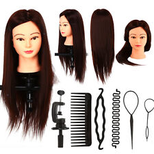 Beauty Pro Mannequin Head With Long Hair For Sale Training Cosmetology Clamp