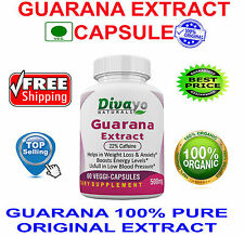 Guarana Extract 500 mg Veggie Capsules Best Selling Product by Divayo Naturals