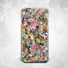 Sticker Bombing Silicone TPU Rubber Case Cover Skin Back iPhone Plus