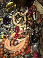 Pounds ANTIQUE VINTAGE Tangled Jewelry Lot For Parts Repair Gold Silver Tone