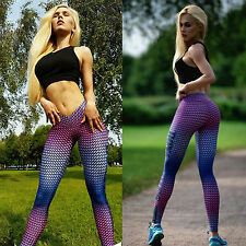 Womens Casual Sport Yoga Fitness Workout Running Pants Elastic Leggings Trousers