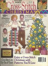 A CROSS STITCH CHRISTMAS ~ DEC 1989 ~ FUN & EASY PROJECTS ~ PATTERNS YOU'LL LOVE