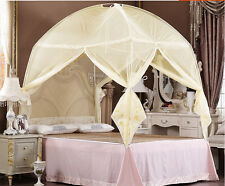 Beige Bedding Canopy Mosquito Net Tent  For Twin Full Queen King Bed Size