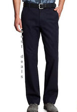 BANANA REPUBLIC MENS Dawson Relaxed Fit Chino NAVY Pants NEW FREE FAST SHIPPING