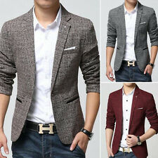 New Mens Slim Fit One Button Blazer Coat Casual Business Suit Tops Coat Jackets