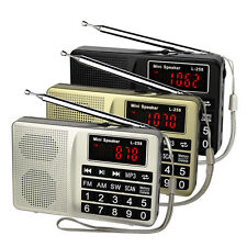 Portable FM/AM/SW Radio Bass Sound MP3 Music Player Multimedia Speaker+USB Cable