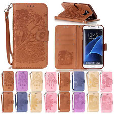 Flip Card Holder PU Leather Wallet Case Stand Cover For Samsung Galaxy Phone Hot