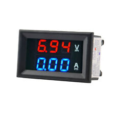 DC 100V 10A Voltmeter Ammeter Blue+Red LED Amp Dual Digital Volt Meter Gauge EI