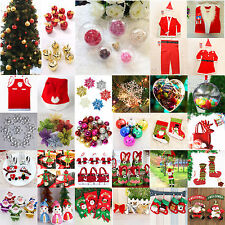 Christmas Decor Santa Hanging Ornaments Snowflake Baubles XMAS Gifts Costume New