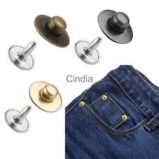 100 Sets Rivets Fasteners Studs Button Sewing Jeans Gun