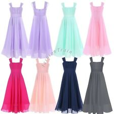 Girl Kid Communion Party Prom Princess Pageant Bridesmaid Wedding Flower Dress