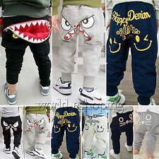 Kids Baby Boys Girls Print Harem Pants Casual Trousers Bottoms Sweatpants Slacks