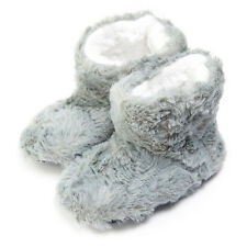 Baby Girl Furry Boot Slippers - Girls Fuzzy Boot Style Shoes
