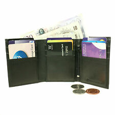 Slim Thin Trifold Mens Credit Card Real Leather Wallet 6TRIFOLD
