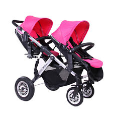 folding baby stroller protable pram double seat twin kids Removable pushchair