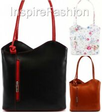Womens DESIGNER Handbag REAL ITALIAN LEATHER Shoulder Bucket Backpack VERA PELLE