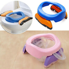 Foldable Portable Travel Potty Chair Toilet Seat For Baby Kids Plastic Seat liau