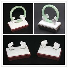 4x Bracelet Bangle Stands Display Holders Jewellery Showcase PU Brown Cherry-red