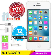 """GOOD Condition Factory Unlocked APPLE iPhone 4S 8G-16-32GB 3.5"""" IPS Mobile Phone"""