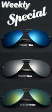 Unisex Retro Polarized Mirrored Colors Lens Sunglasses, Cleaning Cloth Storage