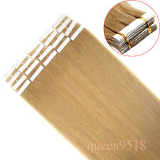 "16-24""Seamless Skin Tape In Weft Remy Human Hair Extension Straight Dark Blonde"