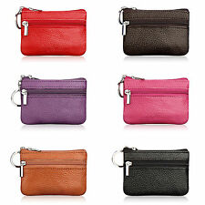 Women's Real Leather Plain Small Wallets Coin Purses Card Holder Clutch Handbags