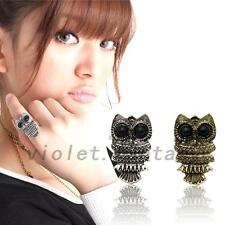 Adjustable Lovely Owl Retro Big Eyes Finger Ring Costume Jewelry Accessory Gift