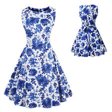 Retro Women Plus Size Swing 1950s Housewife Pinup Vintage Rockabilly Party Dress