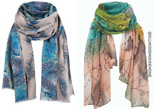 lightweight one size butterfly peacock map multi print fashion summer SCARF