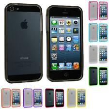 For iPhone 5 5G 5th Color Transparent TPU Jelly Bumper Gel Case Skin Gel Cover