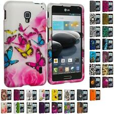 For LG Optimus F6 Hard Design Snap-On Rubberized Skin Case Cover Accessory