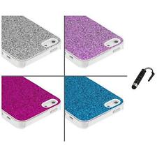 Glitter Bling Sparkly Ultra Thin Hard Case Cover+Stylus Plug for iPhone 5 5S