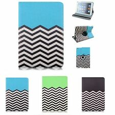 Stylish Wave Pattern PU Leather Rotating Smart Stand Cover Case for Apple iPad