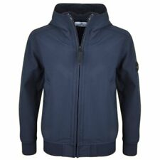 New Season Stone Island Junior Soft Shell-R Jacket In Navy. Size 6 - 14 Years