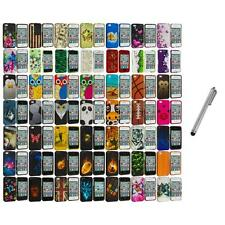 Design Hard Rubberized Color Snap-On Case Cover+Metal Pen for iPhone 4 4S 4G