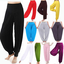 Womens Harem Genie Yoga Pants Aladdin Hippie Baggy Belly Dance Casual Trousers