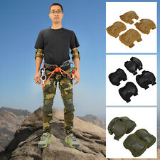 New Tactical Airsoft Combat Adjustable Protector Skate Knee Pads Knee+ Elbow Pad