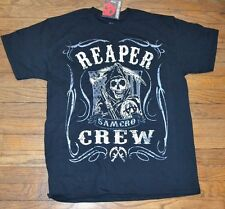 Sons of Anarchy SAMCRO REAPER CREW 2-Sided Graphic T-Shirt Tee SOA