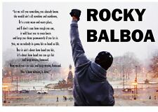 1- Rocky Balboa Quote Poster V3 ( 4 Sizes Available) Luster Paper