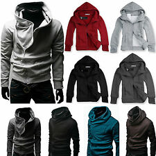 Mens Boys Slim Fit Hoodies Sweatshirt Zip Up Coat Jacket Outwear Casual Warm Top