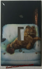 Lazy Garfield Cat Light Switch Outlet single double Cover Plate Home Decor