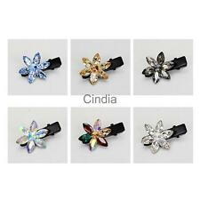 Sweet Girls Hairpins Delicate Crystal Flower Hair Clip Women Hair Accessories