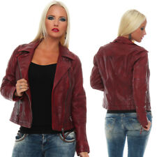 Blue Monkey Ladies Leather Jacket Biker Jacket BM62-537